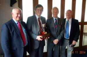 Left to right - Tim Wright of Crownhouse Wealth Management, Terry Forsey, Dr Laurence Howard and Geoffrey Pointon
