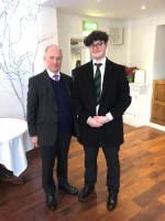 The Rt Hon Peter Lilley MP and Jack Fuller from Uppingham School