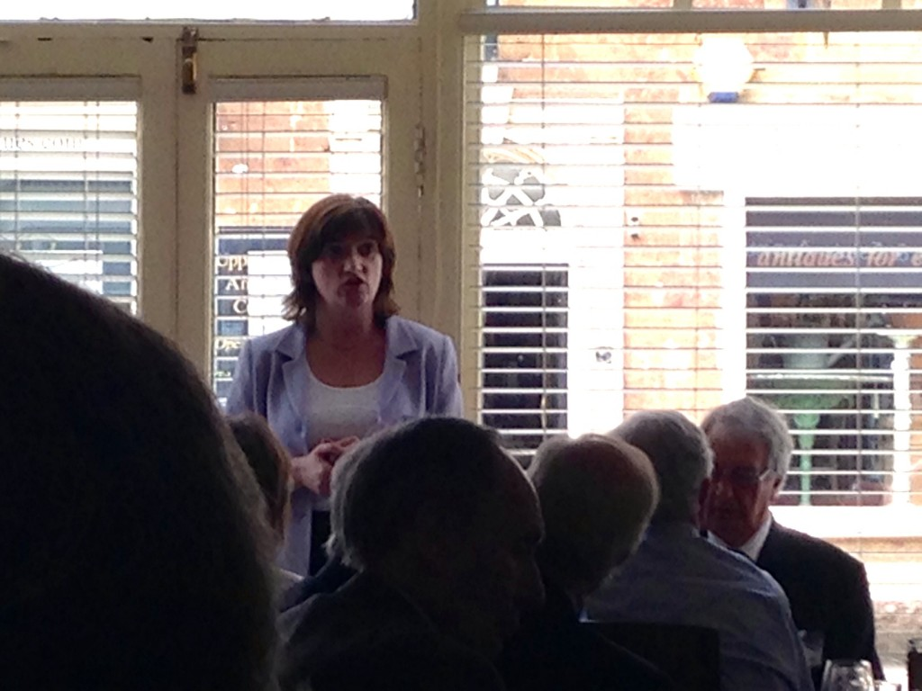 Lunch with Nicky Morgan MP