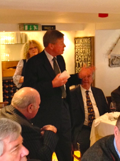 Andrew Robathan MP taking questions during lunch
