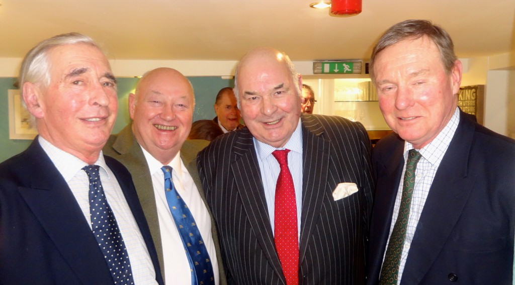 Bill Ginns, Geoffrey Pointon, Frank Simms and Andrew Robathan MP